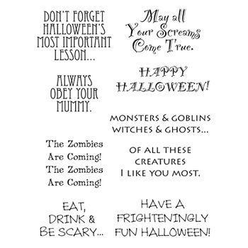 Stampers Anonymous Words To The Rescue Clear Stamp Set Halloween
