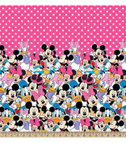 Disney® Minnie Mouse Minnie And Friends Mock Smock Fabric, , hi-res