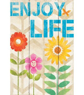Porch Décor Fabric Flag 12''x18''-Enjoy Life