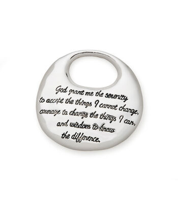Silver Pendant with Serenity Prayer