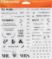 Fiskars® Clear Stamps-DIY Wedding, , hi-res