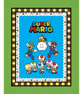 No Sew Fleece Throw 48\u0022-Nintendo Super Mario