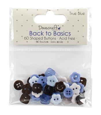 Plastic -true Blue Buttons