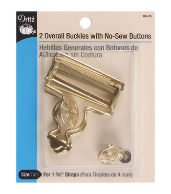 Dritz Overall Nickel Buckle For 1.63'' Straps 2pcs