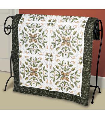 Janlynn Antique Foliage Quilt Blocks Stamped Cross Stitch