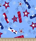 Patriotic Fire Cracker Print Fabric