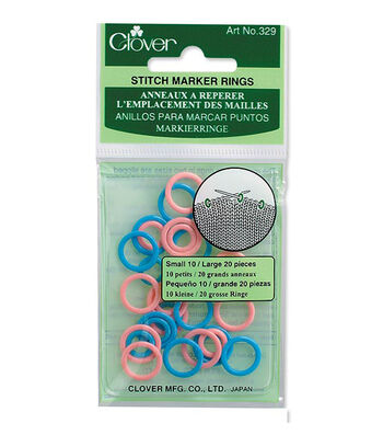 Stitch Marker Rings Small/Large 30/Pkg