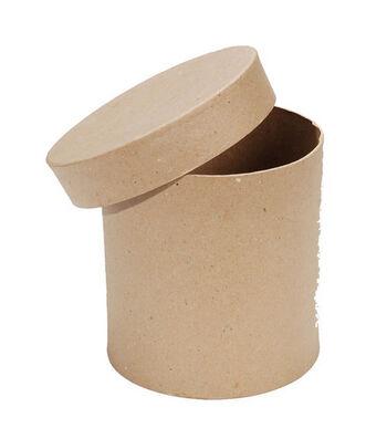 """Darice 5.8""""x6"""" Round Paper Mache Box"""