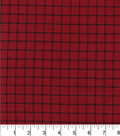 Homespuns Cotton Fabric-Red Windowpane