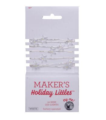 Maker's Holiday Christmas Littles 20 ct Star LED Lights-White & Silver