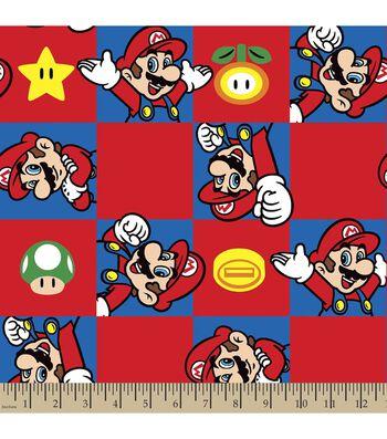 Nintendo Mario Print Fabric-Super Mario Brothers