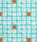 1930\u0027s Cotton Fabric 43\u0022-Pop Of Color Teal