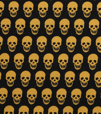"Holiday Showcase™ Halloween Cotton Fabric 43""-Mini Skulls"