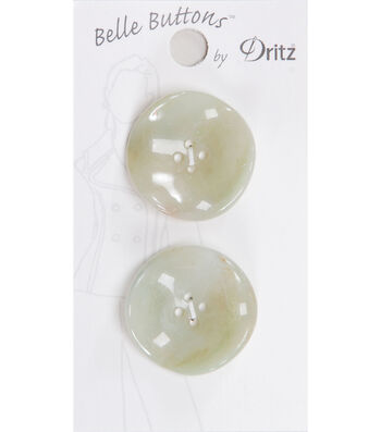 Dritz Belle Button Fashion Fluted Green 27mm