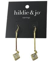 hildie & jo™ 1.88''x''0.38 Square Gold Earrings, , hi-res