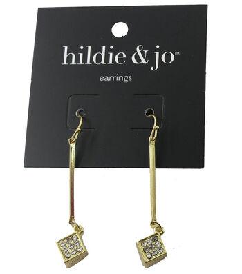 hildie & jo™ 1.88''x''0.38 Square Gold Earrings
