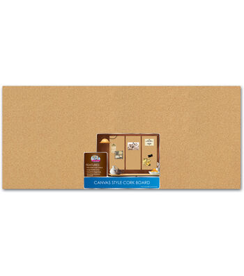 The Board Dudes™ 16''x36'' Canvas Style Corkboard