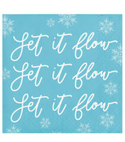 Maker's Holiday Christmas 20 pk Beverage Napkins-Let It Flow, , hi-res