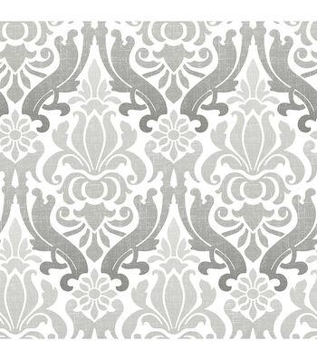 WallPops® NuWallpaper™ Grey Nouveau Damask Peel  & Stick Wallpaper