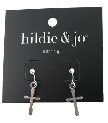 hildie & jo™ Cross Silver Earrings
