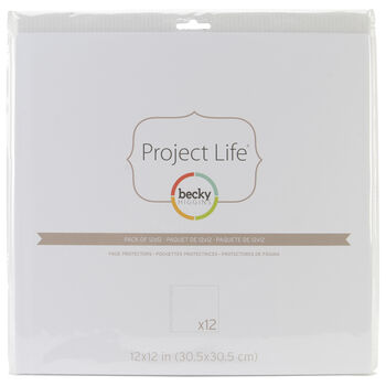 "Project Life Page Protectors 12""X12"" 12/Pkg-"