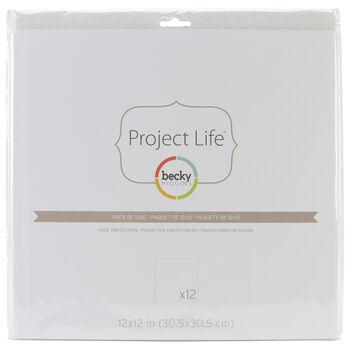 "Project Life Page Protectors 12""X12"" 12/Pkg-"