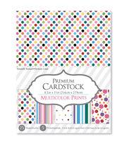 Darice® Premium 8.5''x11'' Cardstock Paper Pack-Multicolor, , hi-res
