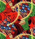 Silky Prints Fabric - Allover Yellow Orange Blue Green Rayon