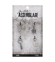 Tim Holtz® Assemblage Pack of 4 Monarch Charms, , hi-res