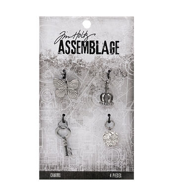 Tim Holtz® Assemblage Pack of 4 Monarch Charms