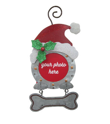 Maker's Holiday Christmas Dog Picture Frame Ornament