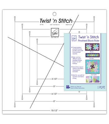 June Tailor Twist 'n Stitch Pinwheel Block Ruler