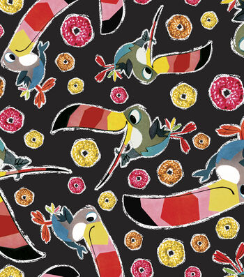 "Kelloggs® Fleece Fabric 59""-Toucan Sam Toss"