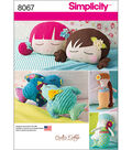 Simplicity Stuffed Doll Face Pillows, Mermaids And Birds-One Size