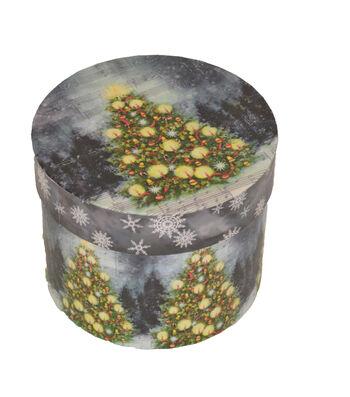Maker's Holiday Small Round Box-Christmas Tree