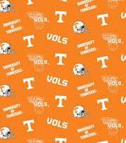 "University of Tennessee Volunteers Cotton Fabric 44""-Orange All Over, , hi-res"