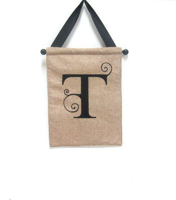 Monogram Door Banner Letter T