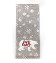 Maker's Holiday Christmas Winterland Towel-Red Happy Holiday on Bear, , hi-res