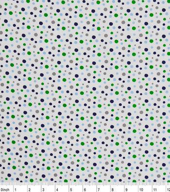 "Nursery Cotton Fabric 43""-Multi Dots"