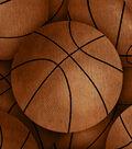 Anti-Pill Fleece Fabric 61\u0022-Vintage Basketballs