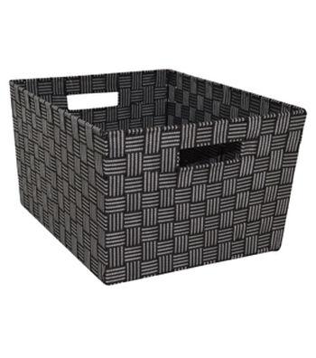 Organizing Essentials™ Strap Bin-Black Plaid
