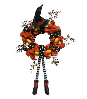 Maker's Halloween Witch Legs & Candy Corn Wreath