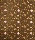 Home Decor 8\u0022x8\u0022 Fabric Swatch-Print Fabric Eaton Square Dynamic Chocolate