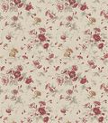 Waverly Upholstery Fabric 54\u0022-Fairhaven Rose
