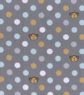 Nursery Cotton Fabric 43\u0022-Monkey Dots