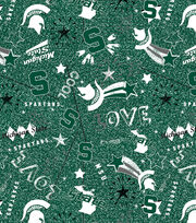 "Michigan State University Spartans Flannel Fabric 58""-Team Pride, , hi-res"