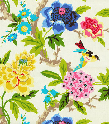 "Waverly Print Fabric 54""-Candid Moment/Gardenia"