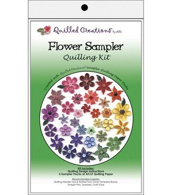 Quilled Creations Quilling Kits-Flower Sample