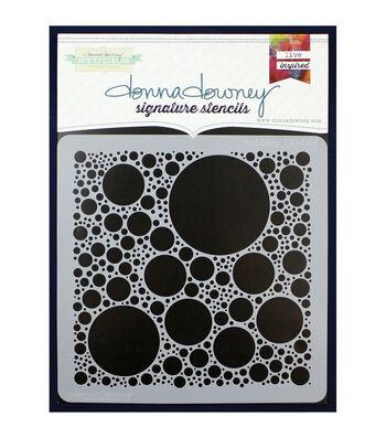 "Donna Downey Signature Stencils 8.5""X8.5""-Bubbles"