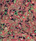 Maker\u0027s Holiday Cotton Fabric 44\u0022-Metallic Paisley